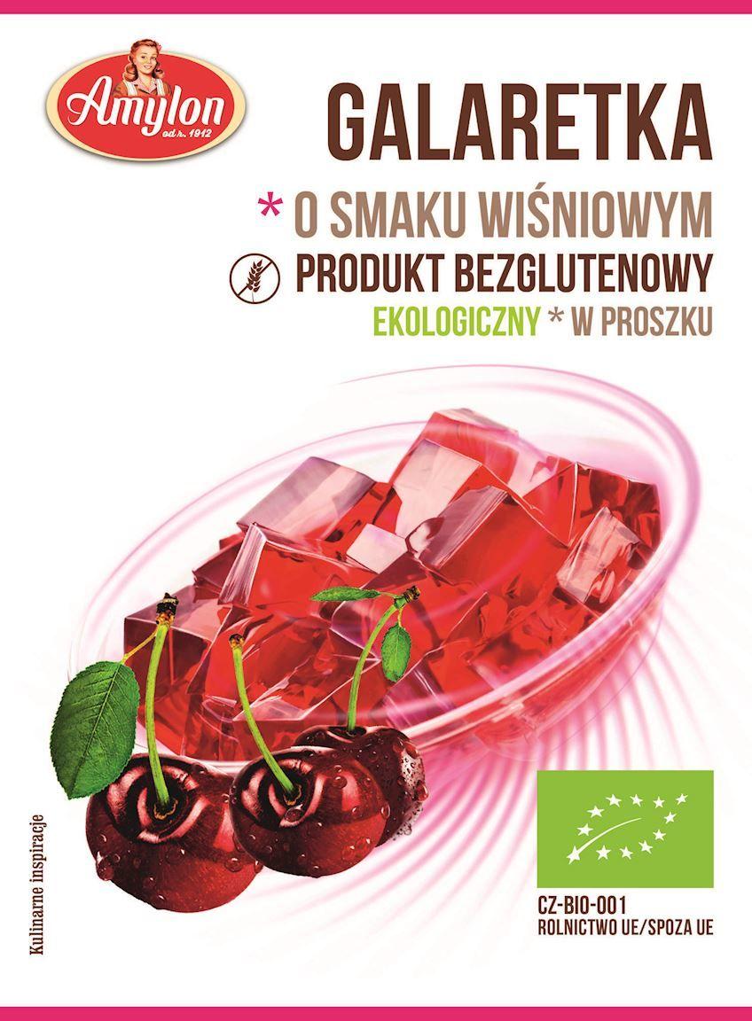 Galaretka o smaku wiśniowym bezglutenowa bio 40 g - amylon