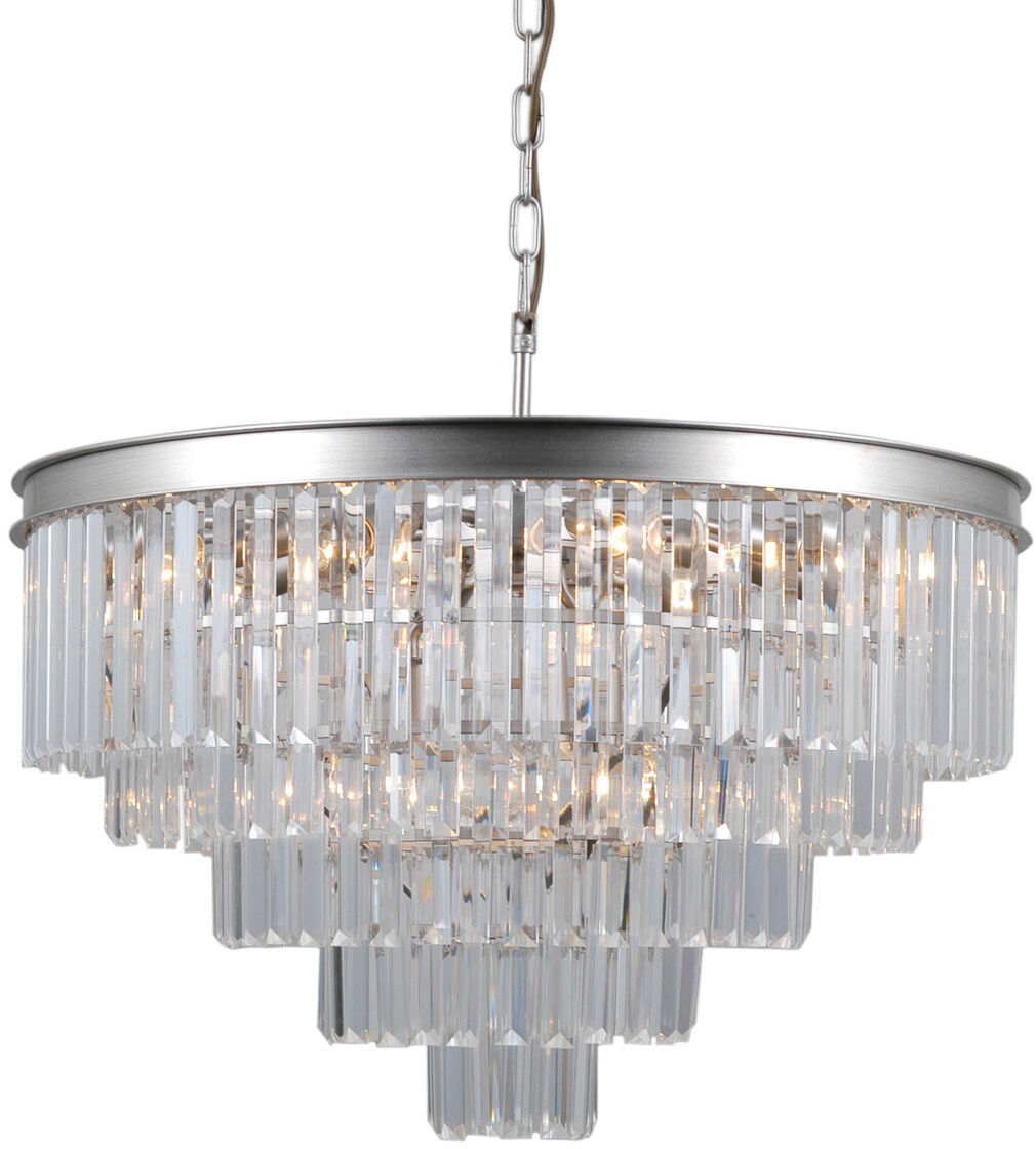 Lampa wisząca VERDES PND-44372-11A-SLVR-BRW - Italux
