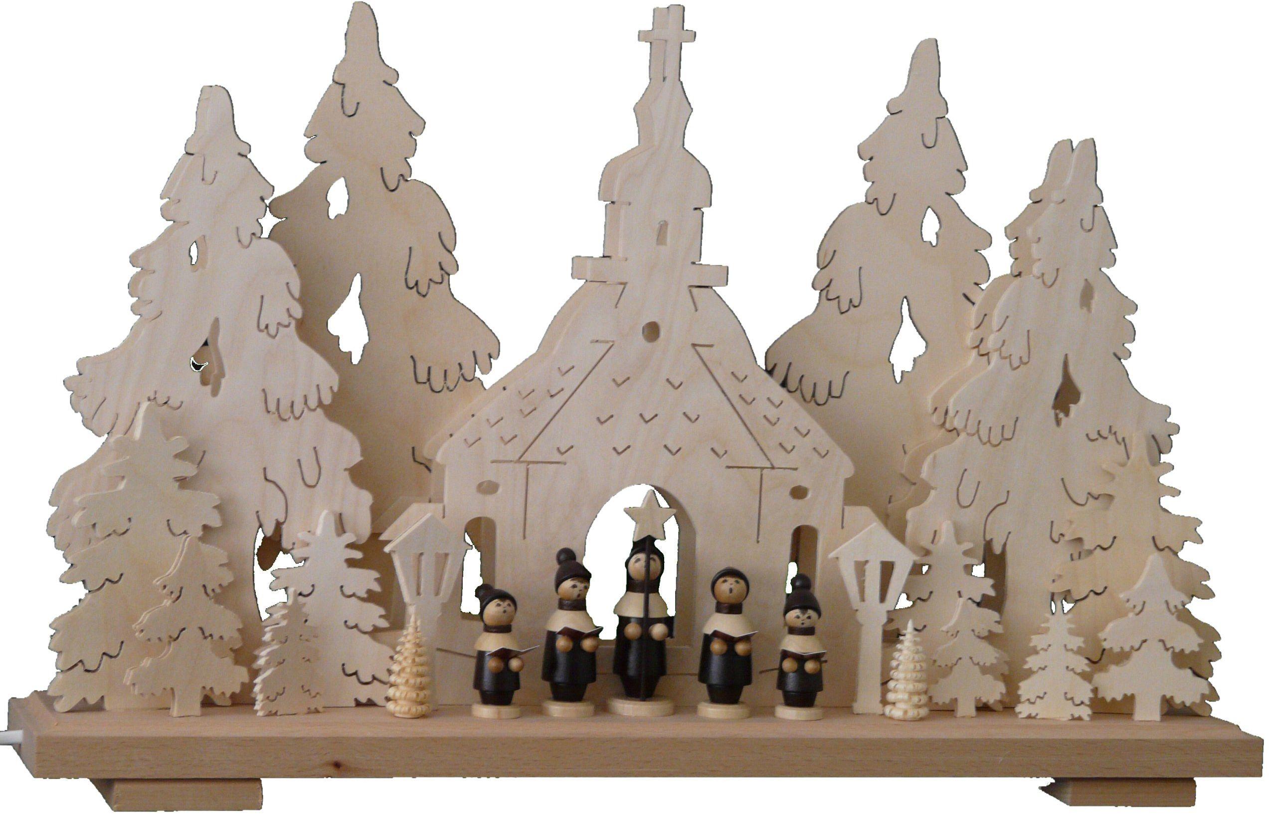 SchwibboLa 3-179 Erzgebirgischer podwójnie podświetlany świecznik łukowy z certyfikatem 3-179, 50 x 30 cm