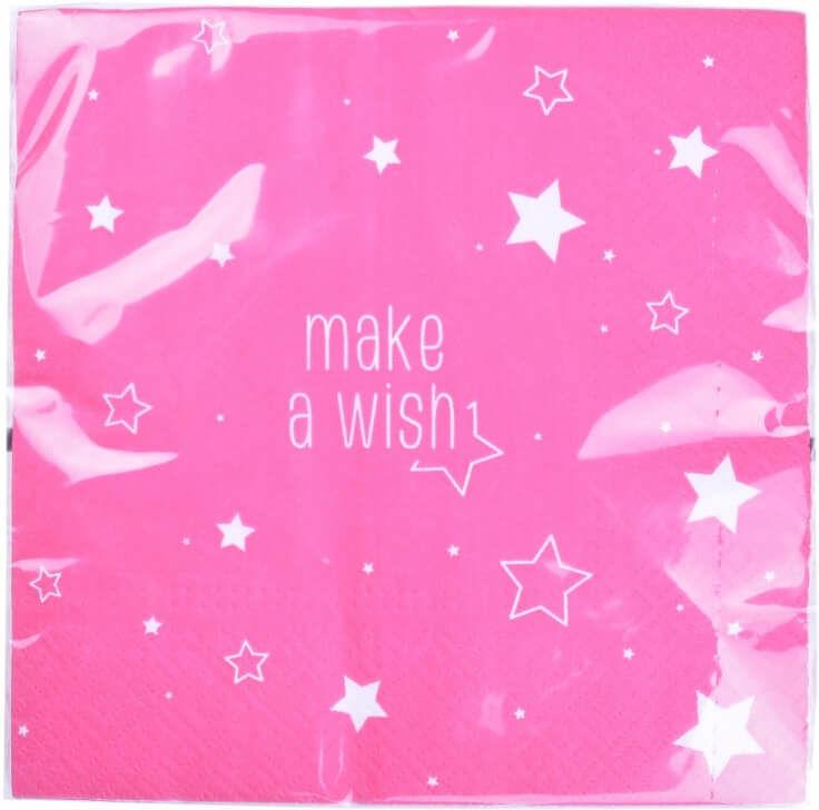 Serwetki różowe Make a wish - 33 cm - 20 szt.