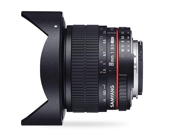 Samyang 8mm F3.5 UMC Fish-Eye CS II - obiektyw stałoogniskowy, MFT Samyang 8mm F3.5 UMC Fish-Eye CS II
