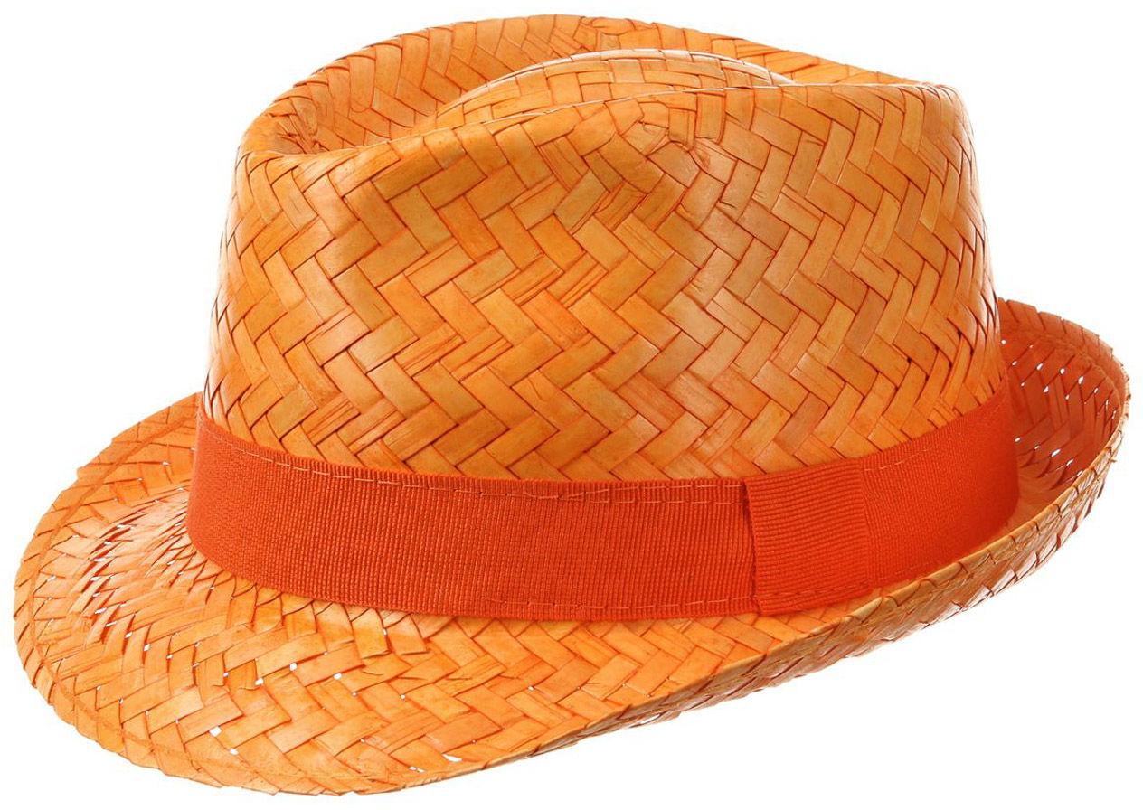 Kapelusz Trilby Słomkowy Valencia, pomarańczowy, 57 cm