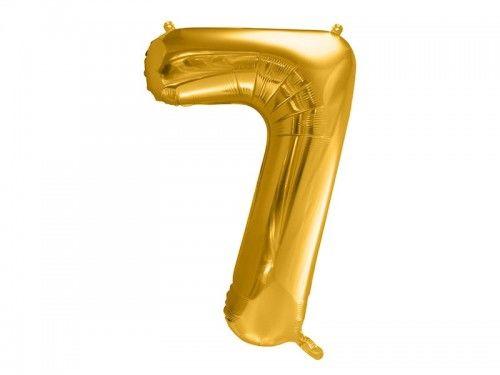 Balon foliowy cyfra 7, złoty