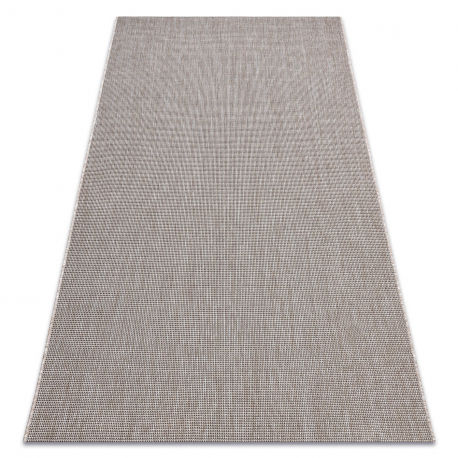 DYWAN SZNURKOWY SIZAL FLOORLUX 20580 gładki, jednolity, jednokolorowy - srebrny / czarny 60x110 cm