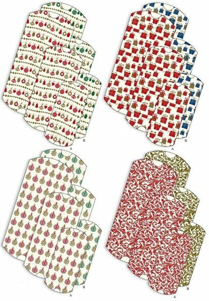 Zestaw świątecznych pudełek prezentowych GCS