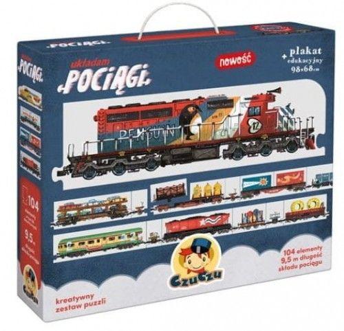 Puzzle Układam pociągi