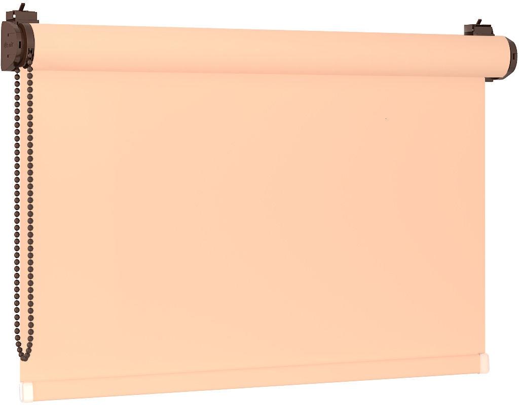 Roleta 100% zaciemnienia BLACKOUT Bezinwazyjna - Cream / Brązowy