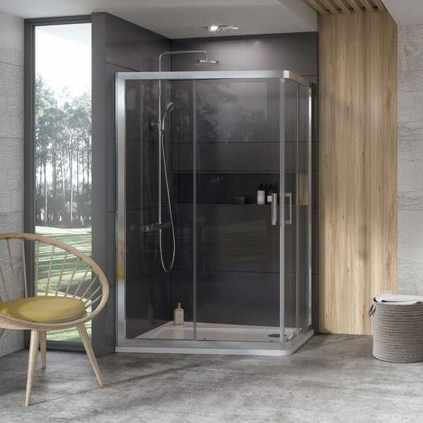 Ravak kabina prysznicowa 10 stopni 10AP4 120x90 połysk + transparent 0ZVG70C00Z1