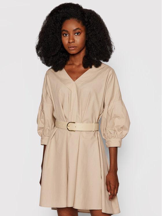 Imperial Sukienka codzienna ABWSBBD Beżowy Regular Fit