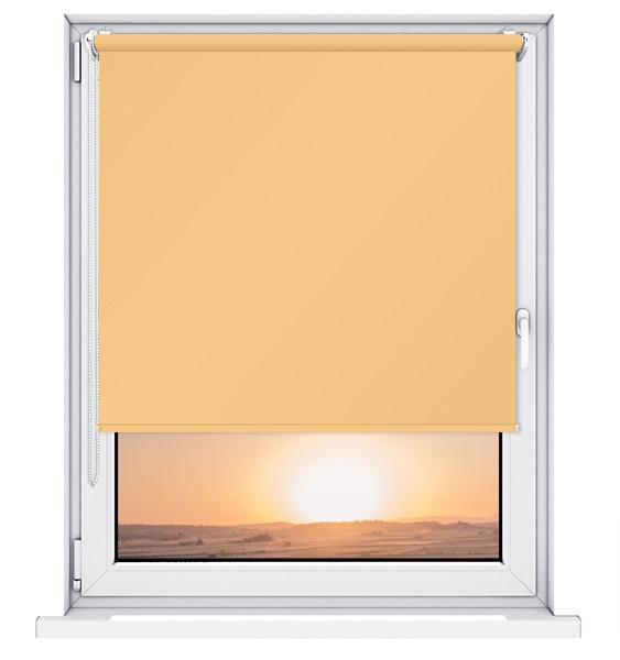 Roleta 100% zaciemnienia BLACKOUT Bezinwazyjna - Yellow / Biały