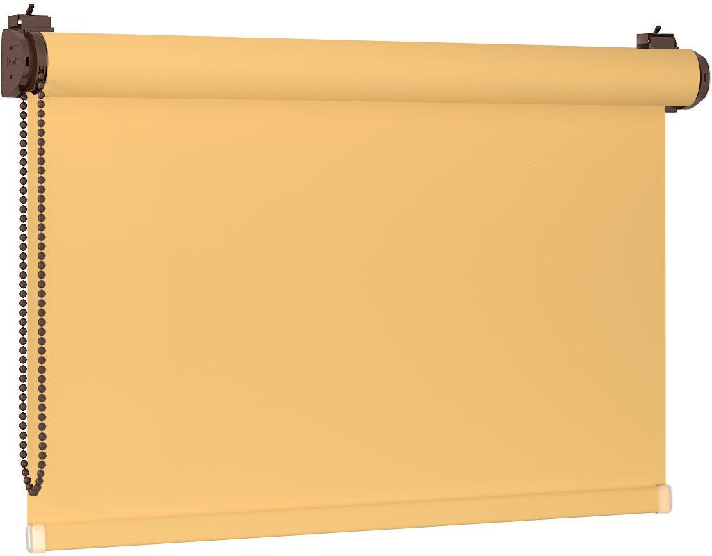 Roleta 100% zaciemnienia BLACKOUT Bezinwazyjna - Yellow / Brązowy