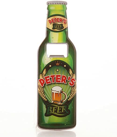 Bokserki prezenty Piotruś otwieracz do butelek piwa, stal nierdzewna, wielokolorowy, 18,5 x 5,8 x 0,4 cm