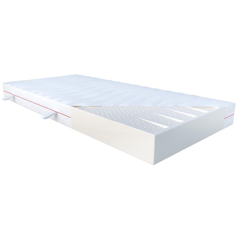 Materac DEMETER JANPOL lateksowy : Rozmiar - 120x190, Pokrowce Janpol - Silver Protect