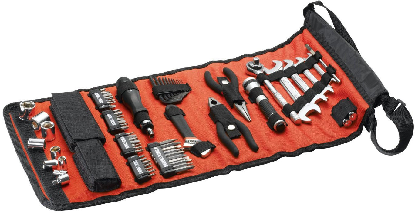 zestaw 71szt narzędzi, kluczy, nasadek i akcesoriów samochodowych Black+Decker [A7144]