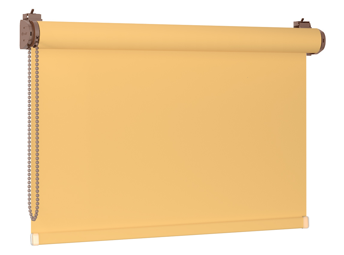 Roleta 100% zaciemnienia BLACKOUT Bezinwazyjna - Yellow / Dębowy