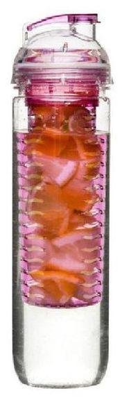 Sagaform FRESH Butelka z Pojemnikiem na Lód lub Owoce - Różowa