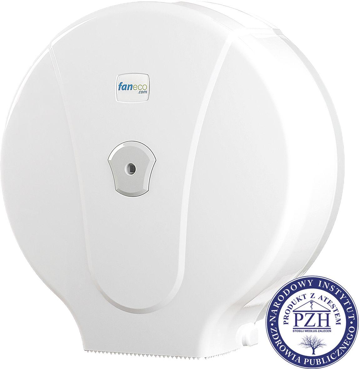 Pojemnik na papier toaletowy Faneco POP M Maxi plastik biały