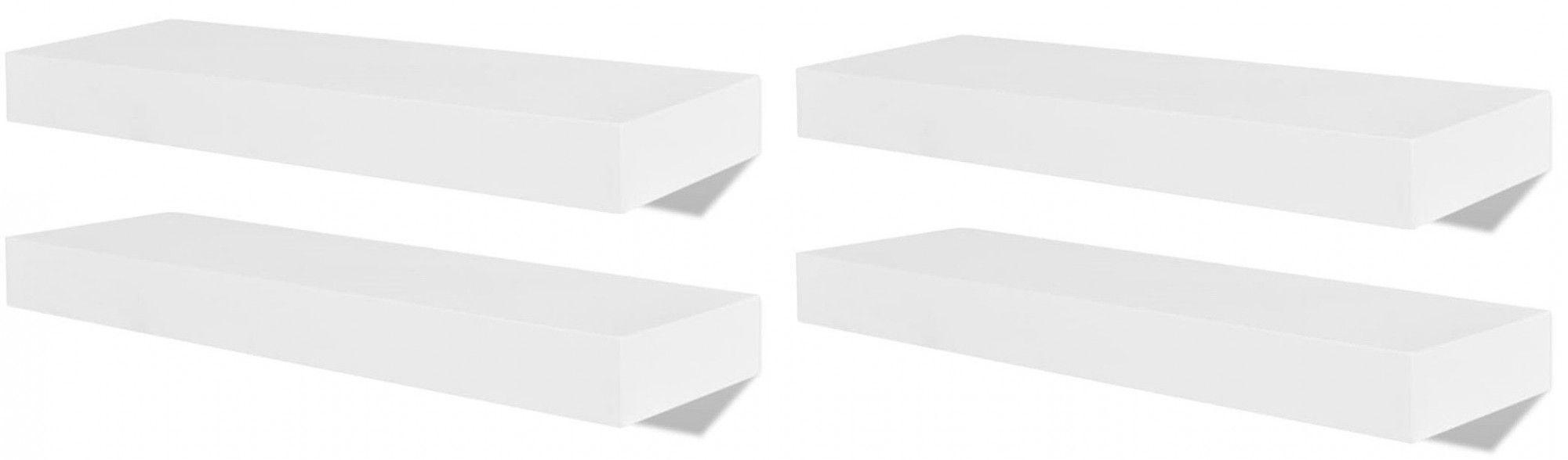 Zestaw nowoczesnych półek ściennych Nera - biały