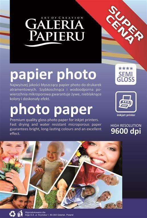 Papier fotograficzny, Photo Semi Gloss, 10x15 cm, 200g, 50 szt.
