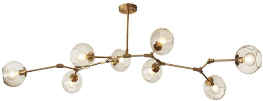 Chemistry gold - 8-punktowa nowoczesna lampa wisząca