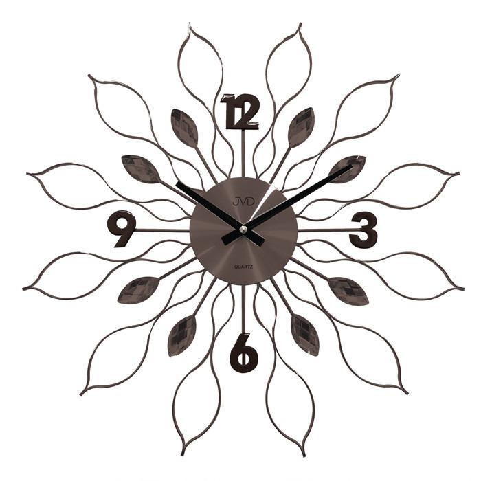 Zegar ścienny JVD HT105.2 z kryształkami, średnica 49 cm