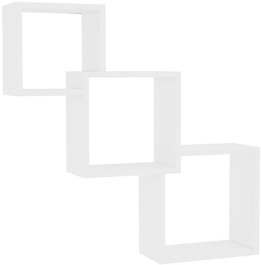 Zestaw białych półek ściennych modułowych - Lindsay