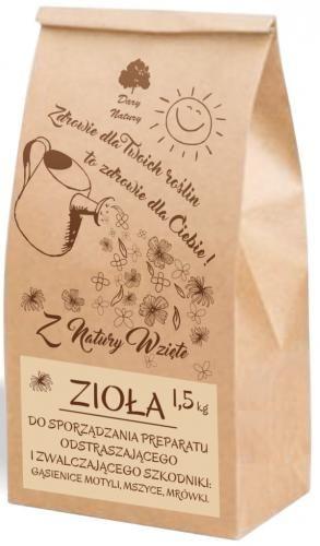 Zioła do sporządzania preparatu odstraszającego i zwalczającego szkodniki (gąsienice, mszyce, mrówki) 1,5kg Dary Natury
