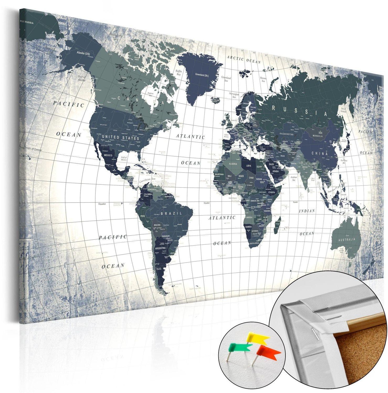 Obraz na korku - struktura świata [mapa korkowa]