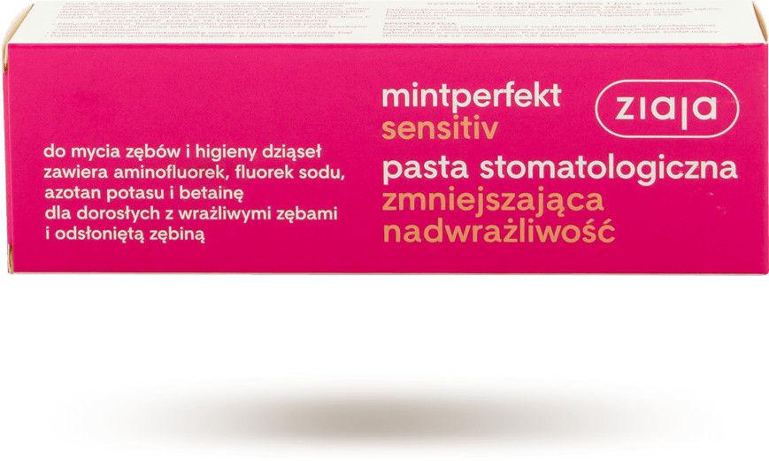 Ziaja Pasta stomatologiczna sensitive zmniejszająca nadwrażliwość 75ml