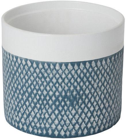 Doniczka ceramiczna GoodHome ozdobna 17 cm niebieska