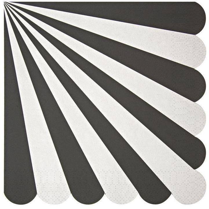 Duże serwetki paski biało-czarne