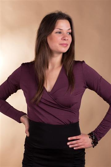 Bluzka Abigail 3022 sliwka