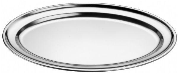Półmisek owalny stalowy 31x21 cm