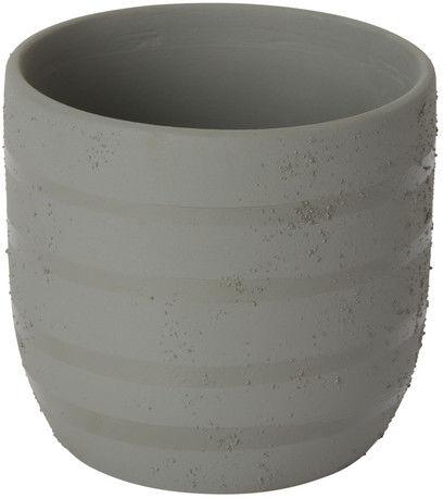 Doniczka ceramiczna GoodHome ozdobna 9 cm szara
