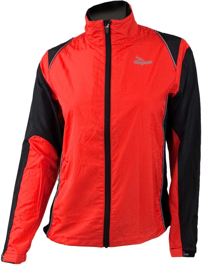 ROGELLI RUN ELVI - ultralekka damska kurtka do biegania, czerwono-czarna Rozmiar: XS,rogelli-elvi-czerw