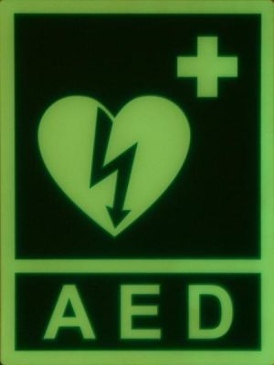 Tablica fluorescencyjna do oznaczania AED