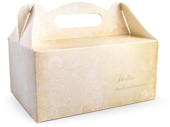 Uniwersalne pudełka na ciasto Słodkie Podziękowanie 10 sztuk PUDCS14-10x