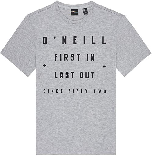 O''Neill Męski T-shirt Lm First In Last Out XS szary (srebrny melee)