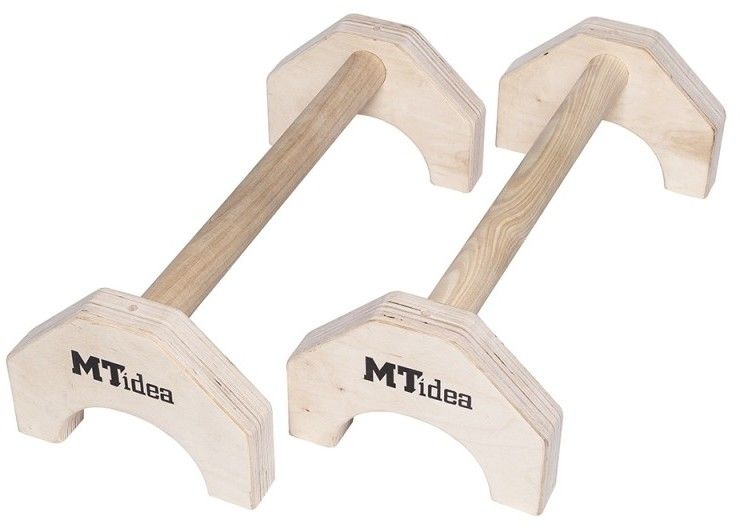 Poręcze do pompek MTidea drewniane 90cm