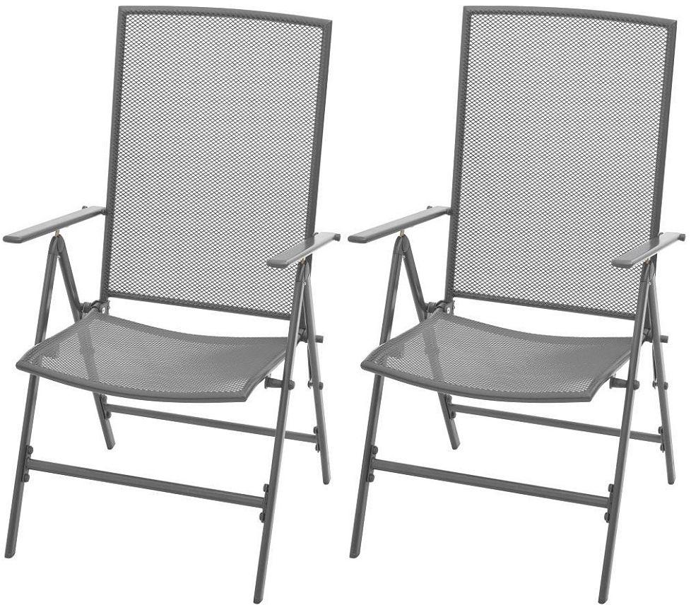 Zestaw metalowych krzeseł ogrodowych - Skyler