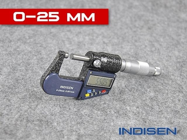 Mikrometr elektroniczny zewnętrzny 0-25MM - INDISEN (2311-0250)