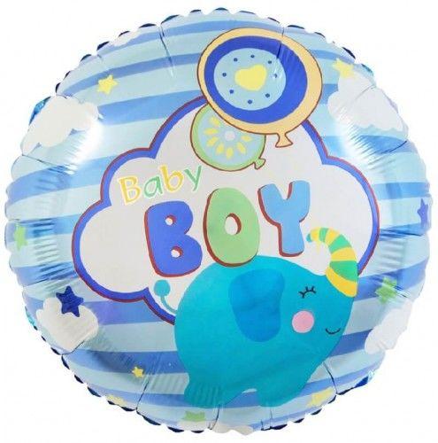 Balon foliowy dla chłopca Baby Boy, Słonik