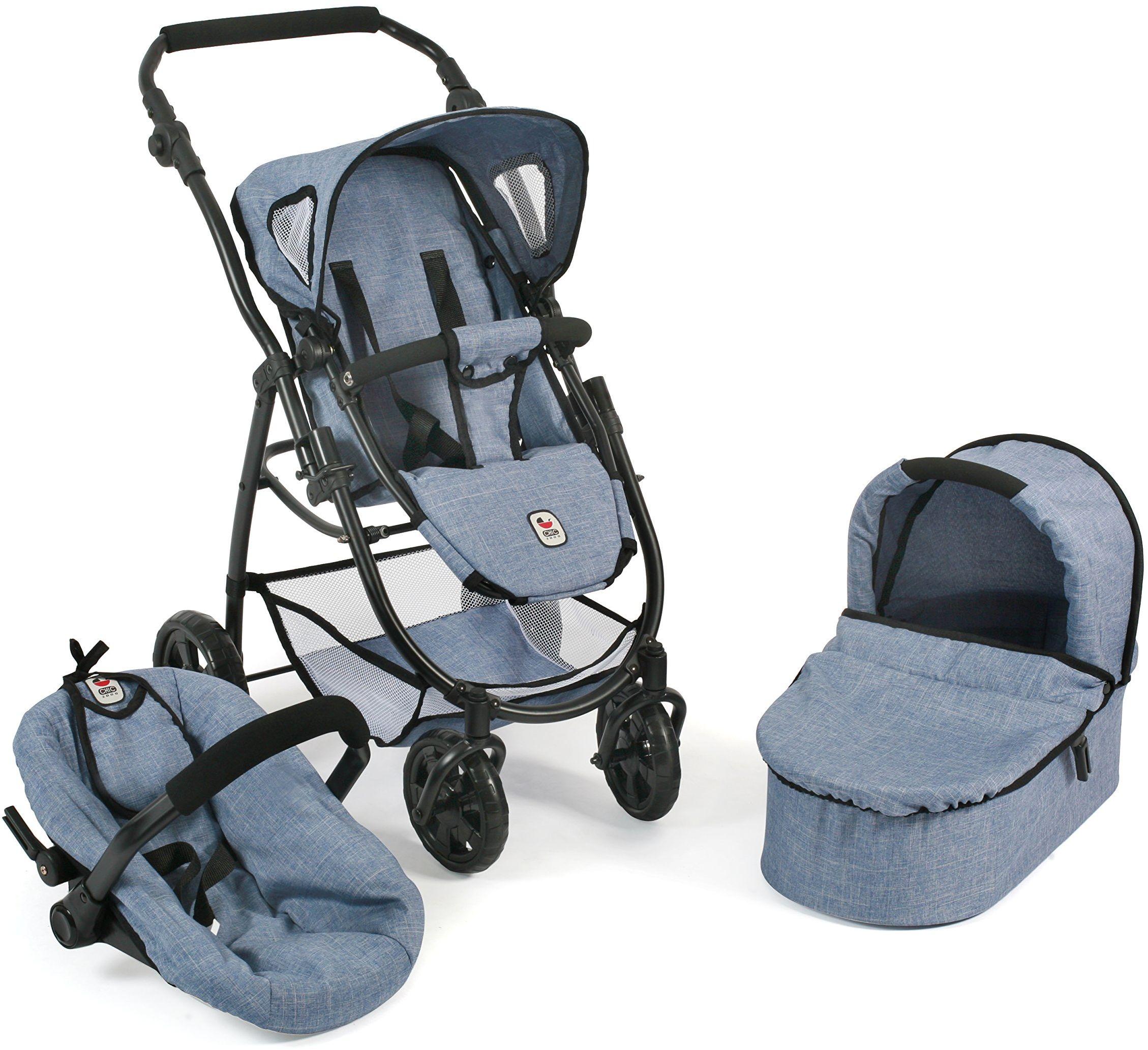 Bayer Chic 2000 637 wózek dla lalek, wielokolorowy