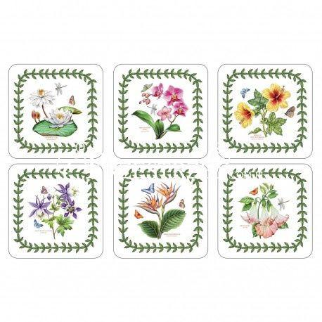 PODKŁADKI KORKOWE PIMPERNEL Egzotyczne Kwiaty - Exotic Botanic Garden - MAŁE