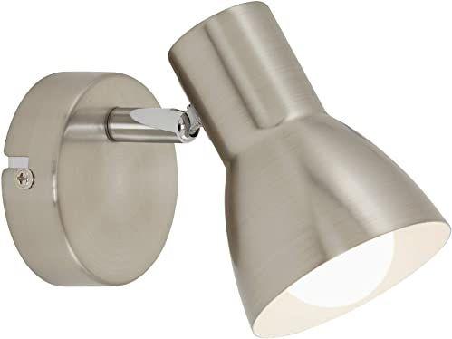 Briloner Leuchten Kinkiet, lampa ścienna, reflektor obrotowy i wychylny, 1x E14, maks. 25 W, matowy nikiel, 80x130 mm (DxA)