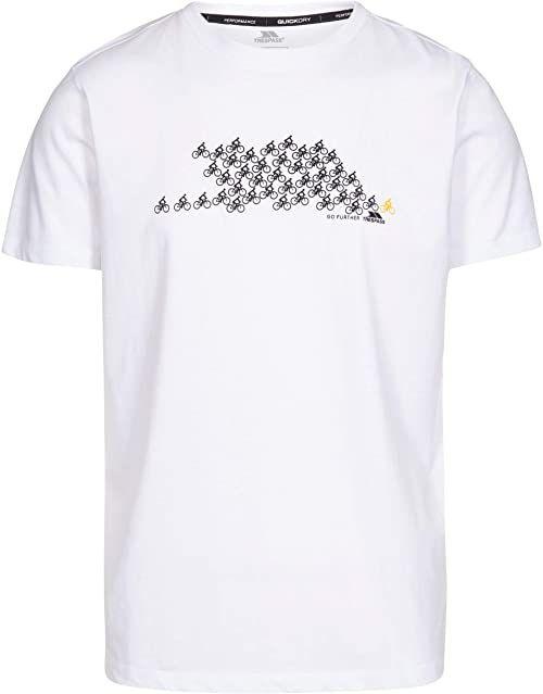 Trespass męska koszulka BORLIE szybkoschnąca, biała, S