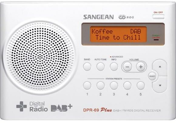Sangean TRAVELLER 690 DPR-69 (biały) - Kup na Raty - RRSO 0%