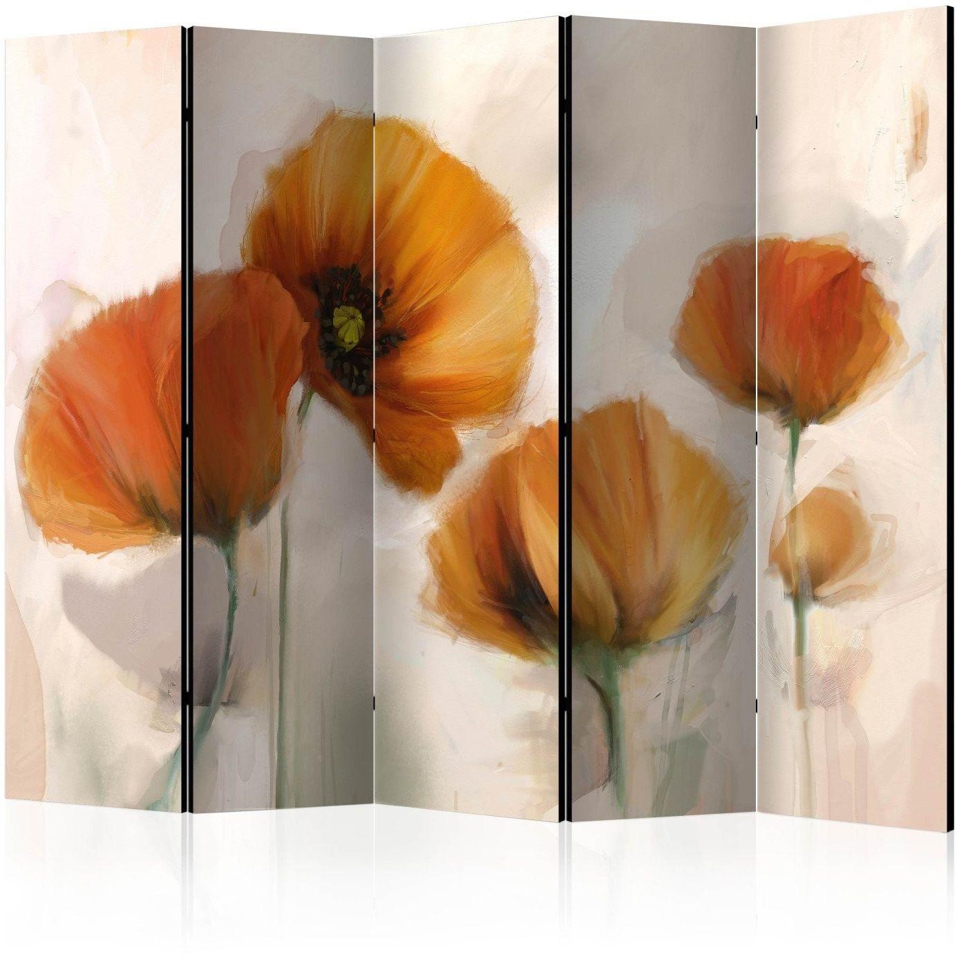 Parawan 5-częściowy - maki - vintage ii [room dividers]