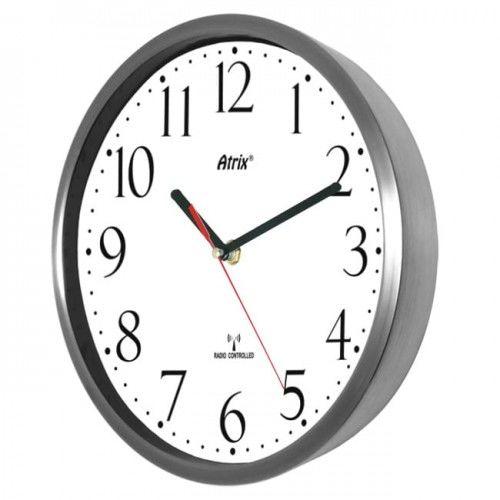 Zegar stal nierdzewna sterowany radiowo #1