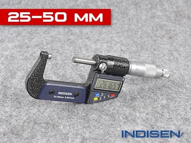 Mikrometr elektroniczny zewnętrzny 25-50MM - INDISEN (2311-2550)